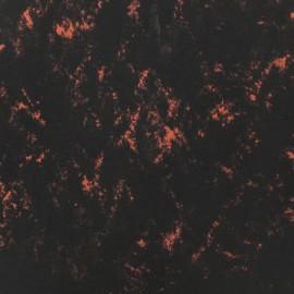 Tissu toile parachute Marbre - orange x 10cm