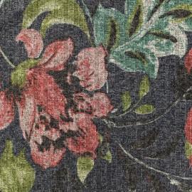 Tissu jersey maille Lurex Firenze - Marine/vert x 10cm