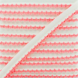 Passepoil Sergé Bord Crochet - Rose Fluo x 1m