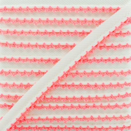 Picot Edge Piping Cord - Neon Pink x 1m