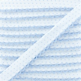 Picot Edge Dot Piping Cord - Sky Blue x 1m