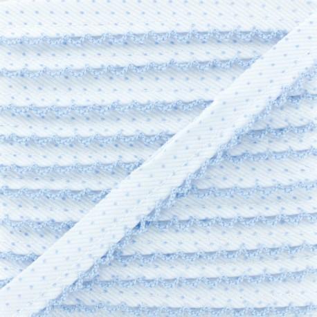 Picot Edge Dot Piping Cord - Sky Blue x 1m