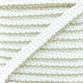 Passepoil à Pois Bord Crochet - Ficelle x 1m