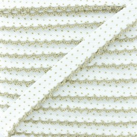Picot Edge Dot Piping Cord - Hazel Wood x 1m