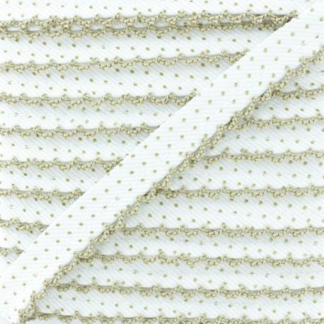 Picot Edge Dot Piping Cord - Hazel Wood x 1m