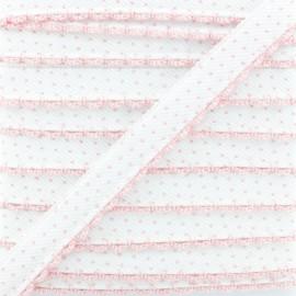 Passepoil à Pois Bord Crochet - Rose x 1m
