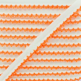 Passepoil Sergé Bord Crochet - Orange Fluo x 1m