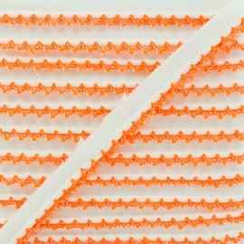 Picot Edge Piping Cord - Neon Orange x 1m