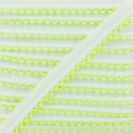 Passepoil Sergé Bord Crochet - Jaune Fluo x 1m