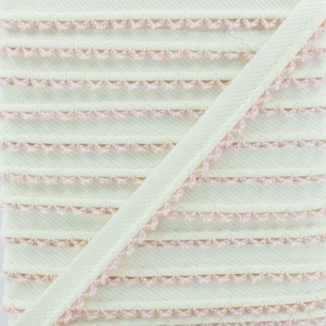 Passepoil Sergé Bord Crochet - Rose x 1m