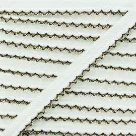 Picot Edge Piping Cord - Chocolate x 1m