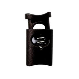 30 mm Polyester Cord Lock Stopper - Black