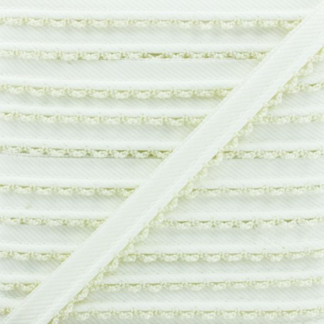 Passepoil Sergé Bord Crochet - Écru x 1m