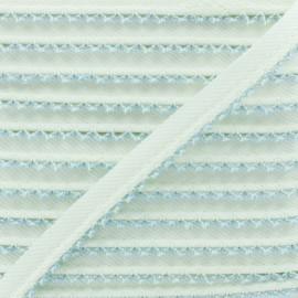 Passepoil Sergé Bord Crochet - Bleu Ciel x 1m
