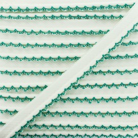 Picot Edge Piping Cord - Green x 1m