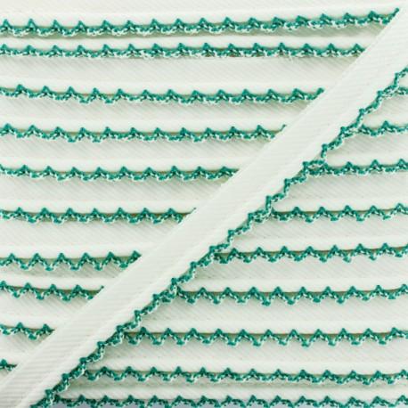 Passepoil Sergé Bord Crochet - Vert x 1m