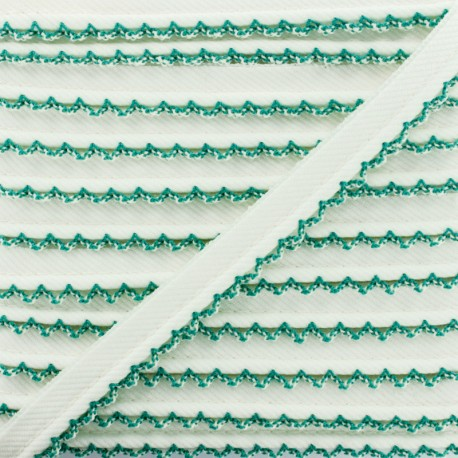 Picot Edge Piping Cord - Green x 1m