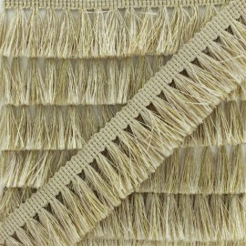 Fringe Trimming Ribbon - Light Gold Métalica x 1m