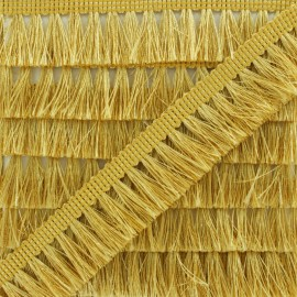 Fringe Trimming Ribbon - Gold Métalica x 1m