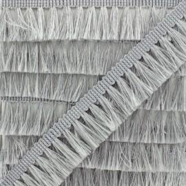 Fringe Trimming Ribbon - Silver Métalica x 1m