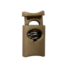 30 mm Polyester Cord Lock Stopper - Taupe