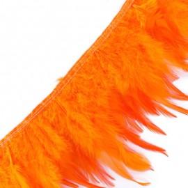 Galon Plume effet nacré 10cm - orange x 50cm