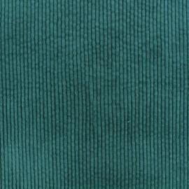 Tissu velours grosses côtes Charlie - Paon x10cm