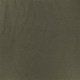 Tissu jersey modal douceur - kaki x 10cm