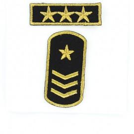Army Stars Iron-On Patch - Black