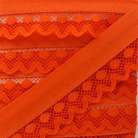 35 mm Lace Bias Binding - Orange Aurora x 1m