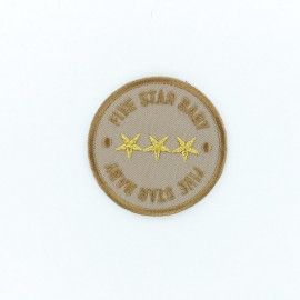 Five Star Baby Iron-On Patch - Brown
