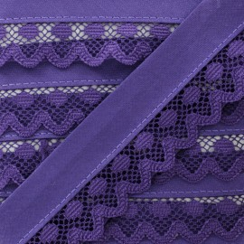 35 mm Lace Bias Binding - Purple Aurora x 1m