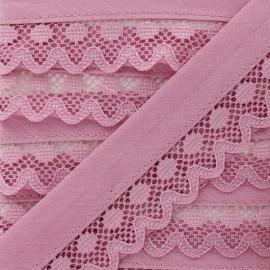 35 mm Lace Bias Binding - Old Pink Aurora x 1m