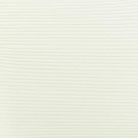 Tissu polyester léger plissé - écru x 50cm