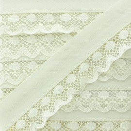 35 mm Lace Bias Binding - Ecru x 1m