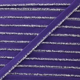 Galon Elastique Lurex Argent - Violet x 1m