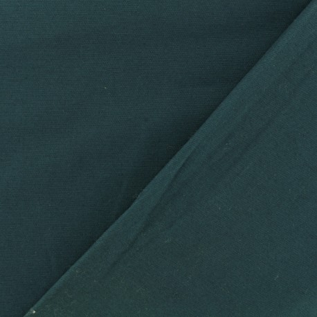 Tissu Gabardine coton vert paon x 10cm