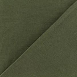 Tissu Gabardine coton vert kaki x 10cm