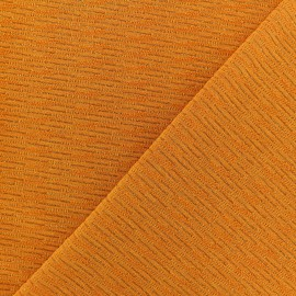 Lurex knitted Fabric - Turmeric Orange x 10cm