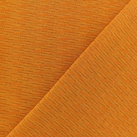 Lurex knitted Fabric - Turmeric Orange x 10cm