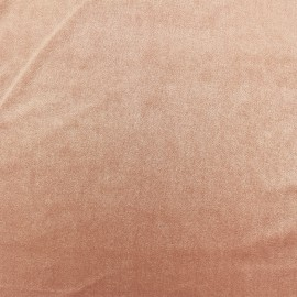 Tissu velours ras jersey - Blush x10cm