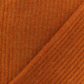 Light ribbed fabric - Rust x 10cm