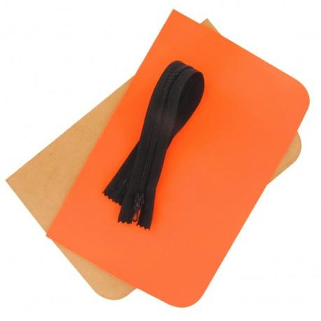 Kit grande pochettes Fluo orange