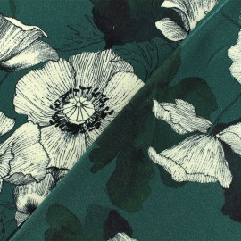 Tissu viscose Natasha - vert x 10 cm