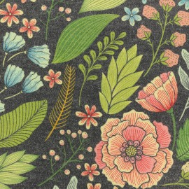 Jersey fabric - Grey Amanda x 10cm