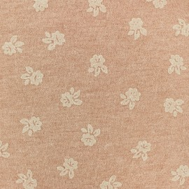 Tissu Lainage Roses - rose pâle x 10cm