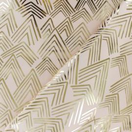 Tissu coton Rico Design The Alpaca Collection - Montagne - rose x 10cm