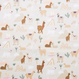 Rico Design cotton fabric  - Alpaca - The Alpaca Collection x 10cm