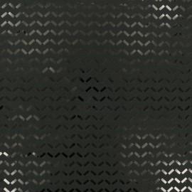 Tissu Jersey mousse confetti - noir x 10cm