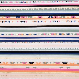 Rico Design cotton fabric  - Stripes - The Alpaca Collection x 10cm